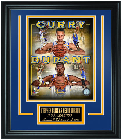 Golden State Warriors Stephen Curry and Kevin Durant Limited Edition Frame. FTSTP078 - National Memorabilia