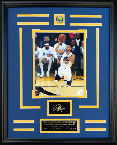 Golden State Warriors-Stephen Curry Shot Engraved Signature Collage- FTSE085ES - National Memorabilia
