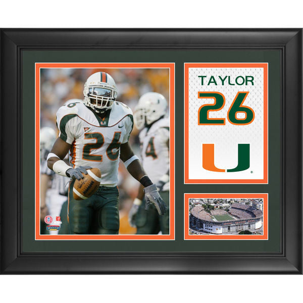 "Sean Taylor Miami Hurricanes Framed 15"" x 17"" Campus Legend Collage"