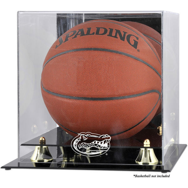 Florida Gators Golden Classic Logo Basketball Display Case with Mirror Back