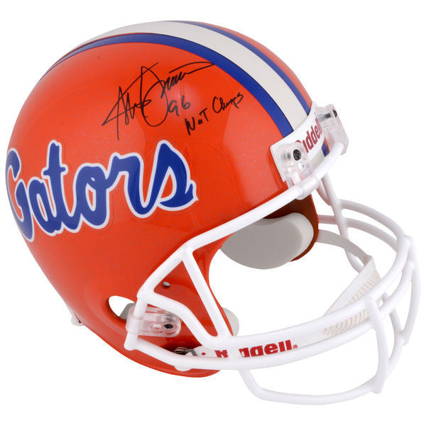 "Steve Spurrier Florida Gators Autographed Riddell Replica Helmet with ""96 NATL Champs"" Inscription"