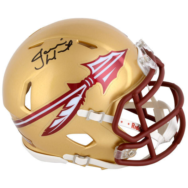 Jameis Winston Florida State Seminoles Autographed Gold Speed Mini Helmet