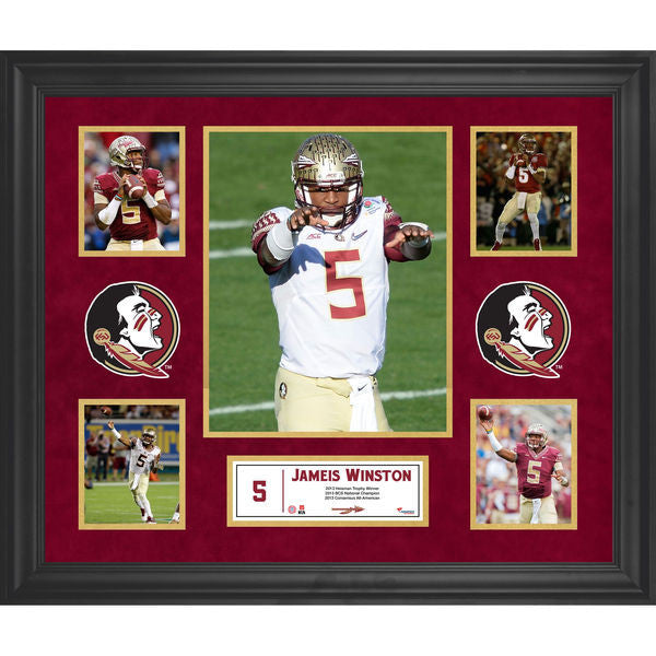 Jameis Winston Florida State Seminoles Framed 23'' x 27'' 5-Photo Collage