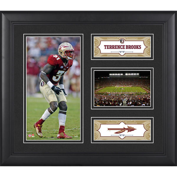 "Terrence Brooks Florida State Seminoles Framed 15"" x 17"" Collage"