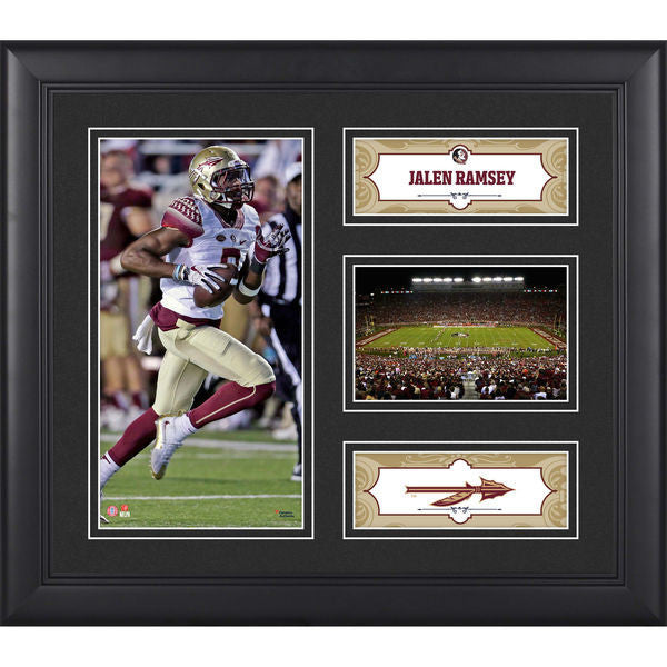 "Florida State Seminoles- Jalen Ramsey Florida State Seminoles Framed 15"" x 17"" Collage"