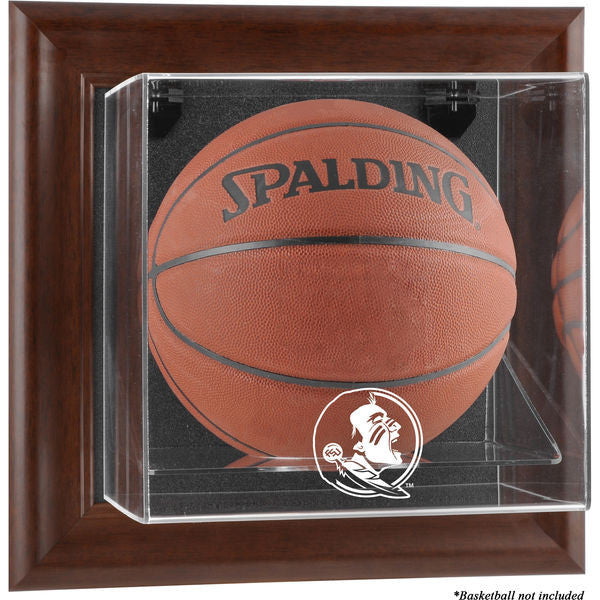 Florida State Seminoles Brown Framed (2014 - Present Logo) Wall-Mountable Basketball Display Case