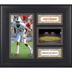 "Tracy Howard Miami Hurricanes Framed 15"" x 17"" Collage"