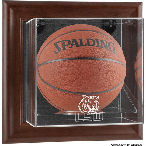 LSU Tigers Brown Framed Wall-Mountable Basketball Display Case