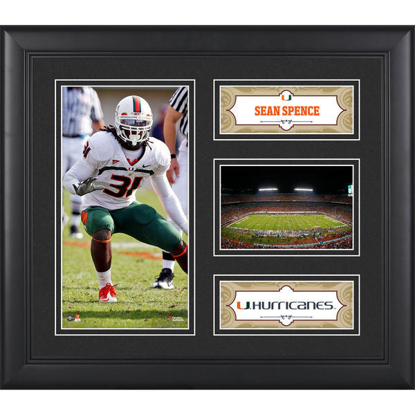 "Sean Spence Miami Hurricanes Framed 15"" x 17"" Collage"