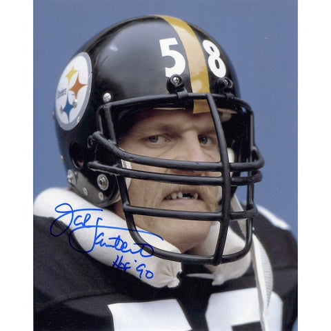 Jack Lambert Pittsburgh Steelers Autographed 8'' x 10'' Snarl Photograph with HOF 90 Inscription