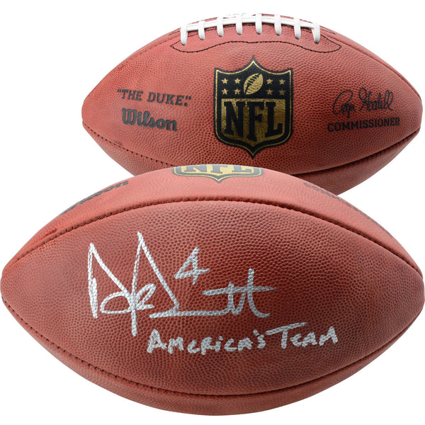 "Dak Prescott Dallas Cowboys Autographed Duke Pro Football with ""America's Team"" Inscription"