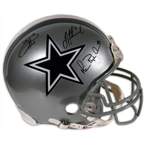 Troy Aikman, Michael Irvin, Emmitt Smith Dallas Cowboys Autographed Pro Helmet