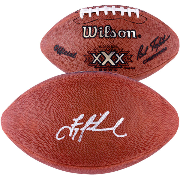 Troy Aikman Dallas Cowboys Autographed Super Bowl XXX Duke Pro Football