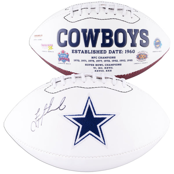 Troy Aikman Dallas Cowboys Autographed White Panel Football