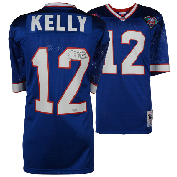 "Jim Kelly Buffalo Bills Autographed Blue 1994 Authentic Mitchell & Ness Jersey with ""HOF 02"" Inscription"