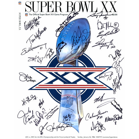 1985 Chicago Bears Team Signed 16'' x 20'' Super Bowl XX Cover Photograph with 30 Signatures