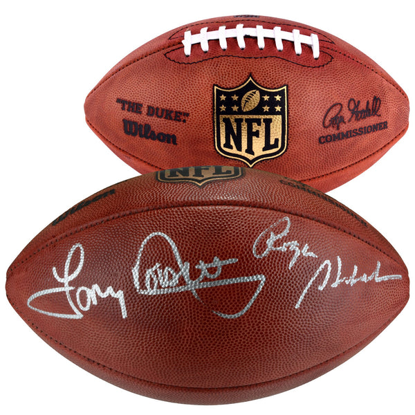 Roger Staubach, Tony Dorsett Dallas Cowboys Autographed Duke Football