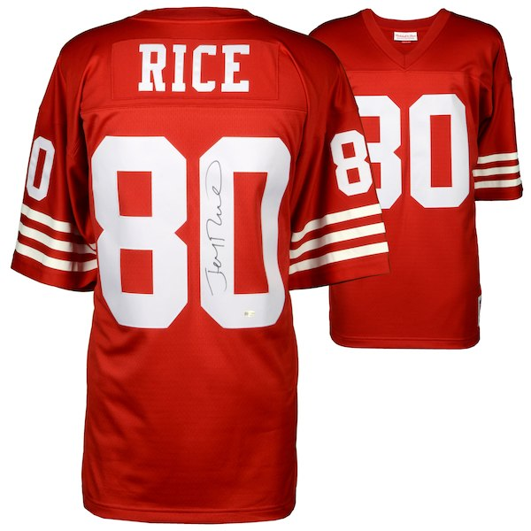 brand new 33bd4 98da3 Jerry Rice San Francisco 49ers Autographed Jersey Jerry Rice Hologram