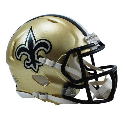 Riddell New Orleans Saints Revolution Speed Full-Size Replica Football Helmet