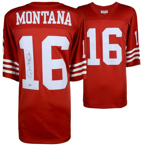 Joe Montana San Francisco 49ers Autographed Red Jersey