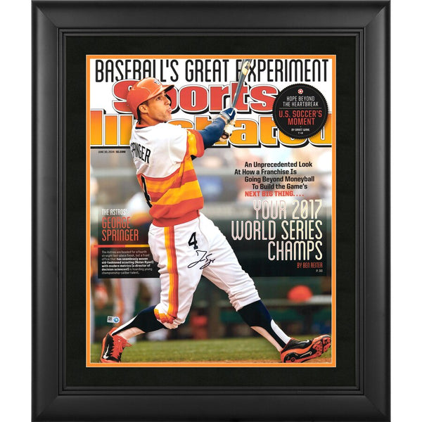"George Springer Houston Astros Framed 2017 MLB World Series Champions Framed Autographed 16"" x 20"" Sports Illustrated Cover Photograph"