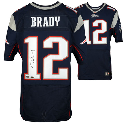 huge selection of 87ddc 015f3 Tom Brady New England Patriots Autographed Navy Blue Nike Elite Jersey -  TRISTAR
