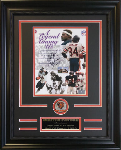 Chicago Bears - Walter Payton Autographed Collage. - National Memorabilia