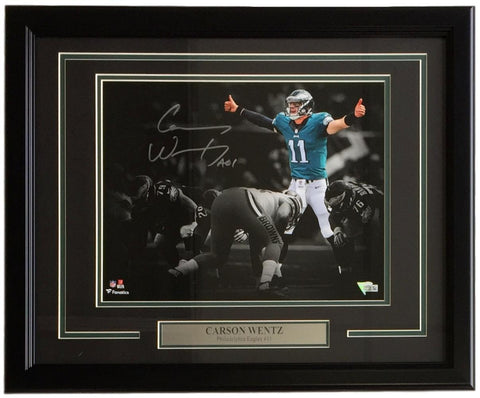 Eagles-Carson Wentz Signed Framed 11x14 Philadelphia Eagles Photograph Fantatics