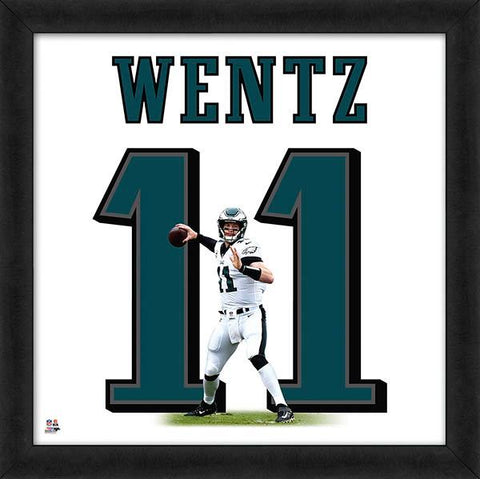 Carson Wentz Steelers Jersey Uniform 20 x 20 Framed Photo NFL Football Collectible