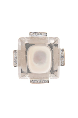 GEO Gemstone Inset Ring