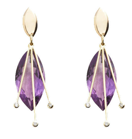 "Amethyst ""Raindrop"" Earrings"