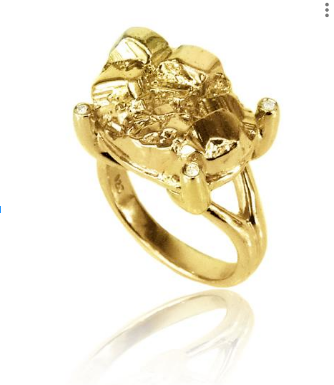 Gold Petra Claw Ring