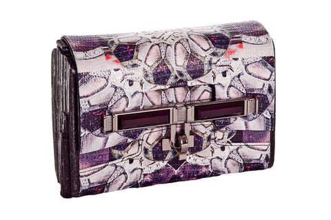 Lux Mini Cross Body Bag - Jet Diamond Lizard