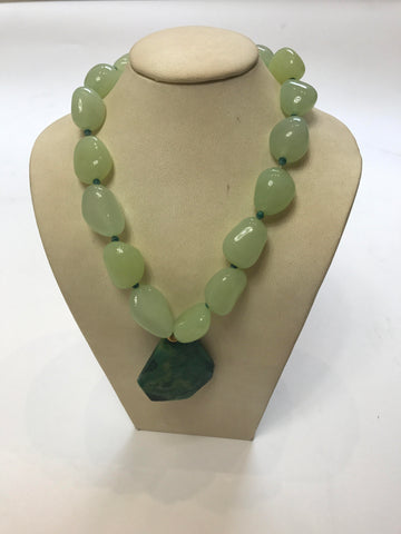 Aventurine Necklace With Larger Beads
