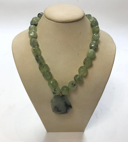 Aventurine Necklace With Smaller Beads