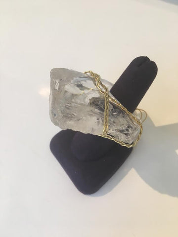 Large Crystal Ring