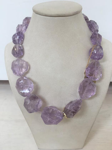 Amethyst Necklace (shorter)
