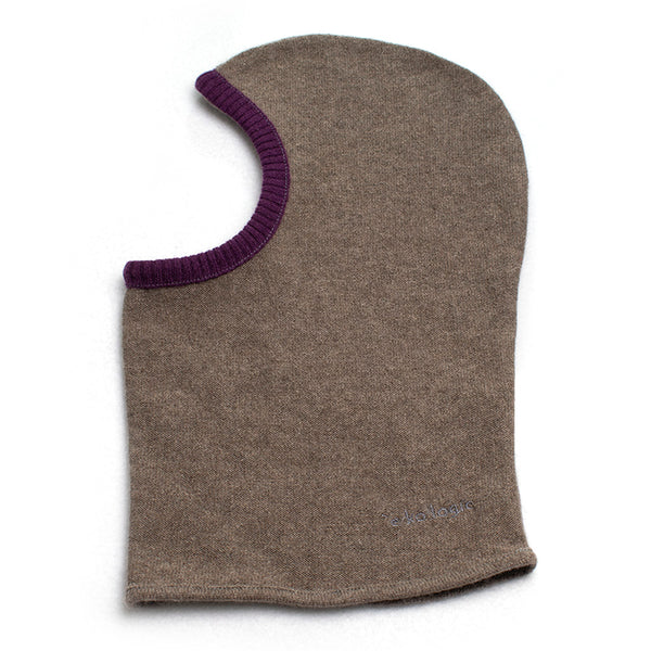 Balaclava BC0005 Brown w/ Burgundy - Medium