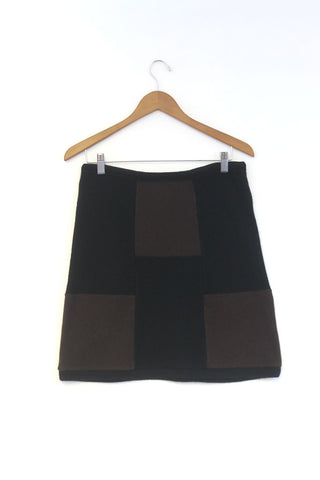 Block Skirt Black w/ Brown - Large