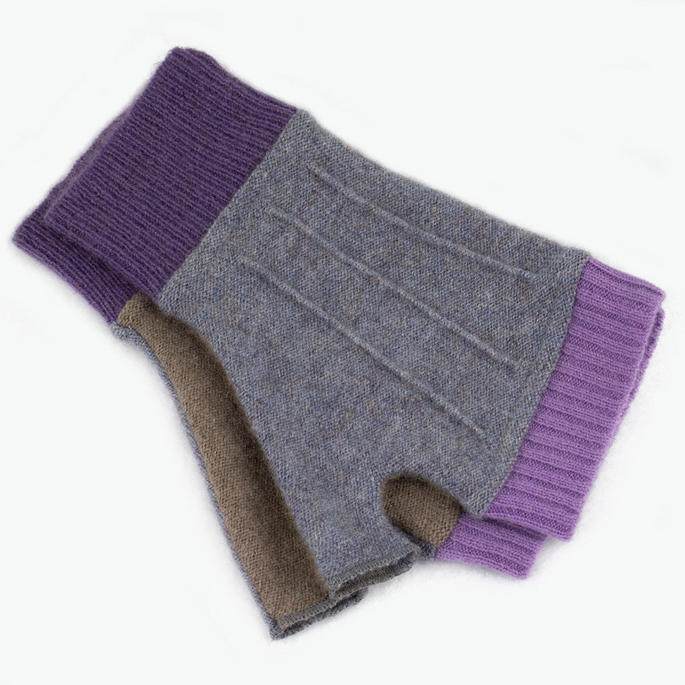 Cuffs CF0108 Grey, Tan w/ Purple - Medium