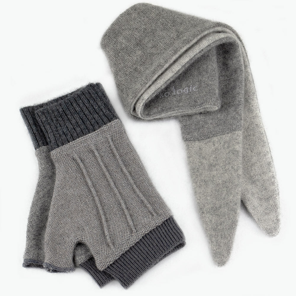 Cuff/Scarf Sets CS0107 Grey - Medium