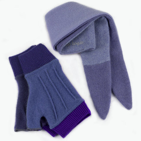 Cuff/Scarf Sets CS0109 Purple - Medium