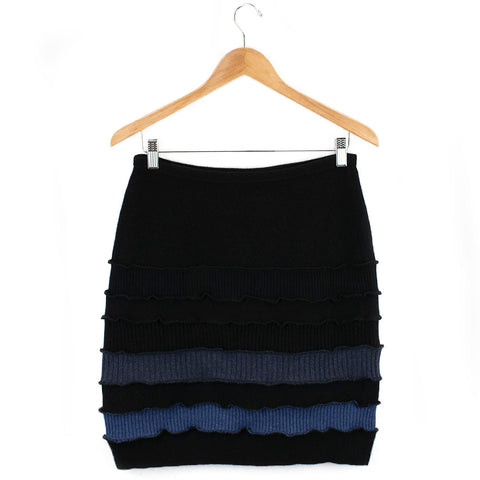 Banded Skirt BS0003 Black w/ Blue - Large