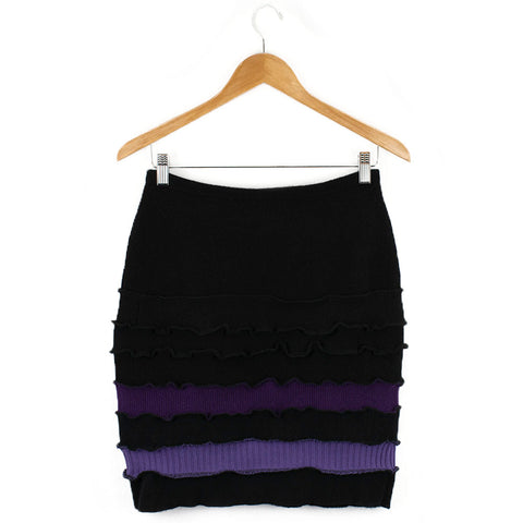 Banded Skirt BS0004 Black w/ Purple - Large