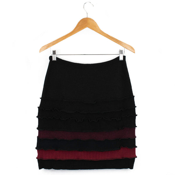 Banded Skirt BS0005 Black w/ Red - Large