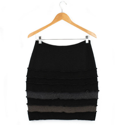 Banded Skirt BS0006 Black w/ Grey - Large