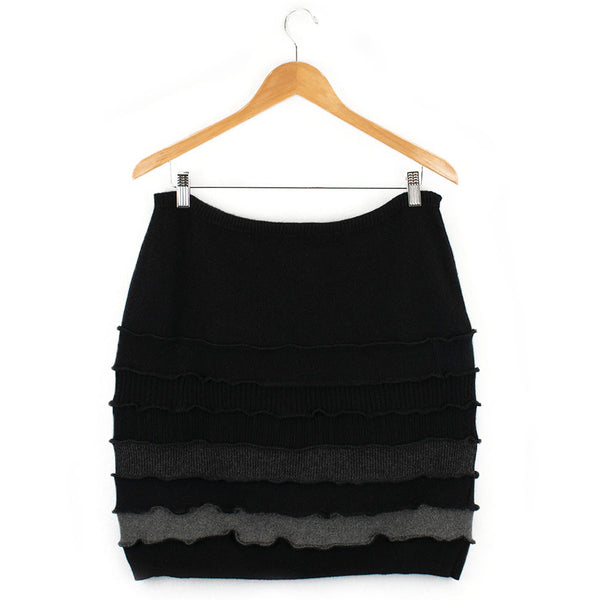 Banded Skirt BS0007 Black w/ Grey - X-Large