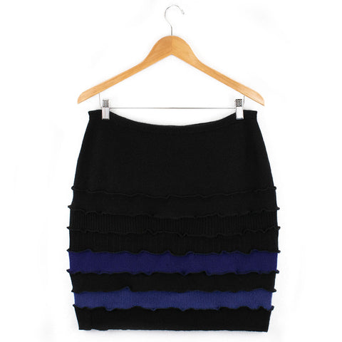 Banded Skirt BS0008 Black w/ Blue - X-Large