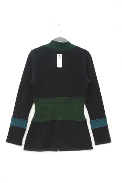 Julie Zip - Black w/ Green - X-Small