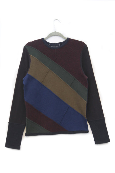 Skylar Sweater Burgundy, Navy Blue, Olive Green - Small